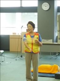 応急手当普及員 中村茂美さん 「感染症を防ぐためビニール袋を手袋がわりに」