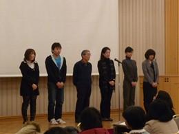 右から3人目が東都生協から派遣する組合員理事 2月2日「ピースセミナー」(中野サンプラザ)にて