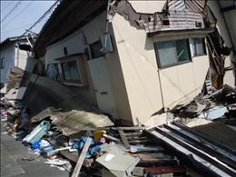被害の大きかった益城町宮園地区