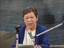 原爆雲の記憶をリアルに語る東條明子さん