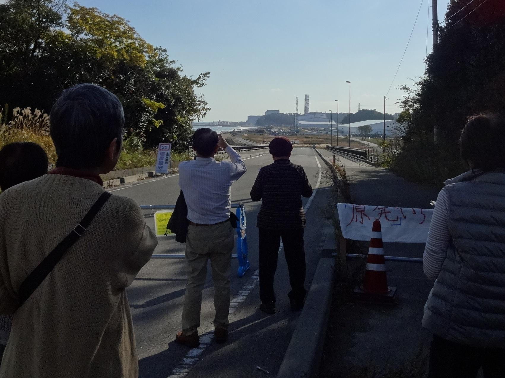 中央の棟周辺が福島第二原子力発電所