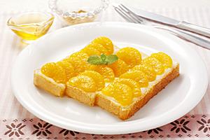 みかん缶のはちみつバタートーストの写真