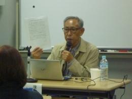 分子生物学者で遺伝子組換え食品を考える中部の会代表・河田昌東先生