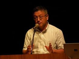 JAやさと・営農流通部の土佐秀美課長から震災被害と復興状況を報告
